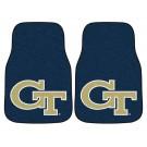 "Georgia Tech Yellow Jackets 17"" x 27"" Carpet Auto Floor Mat (Set of 2 Car Mats - Black)"