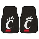 "Cincinnati Bearcats 17"" x 27"" Carpet Auto Floor Mat (Set of 2 Car Mats)"