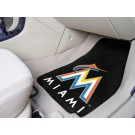 """Miami Marlins 27"""" x 18"""" Auto Floor Mat (Set of 2 Car Mats)"""