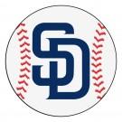 "27"" Round San Diego Padres Baseball Mat"