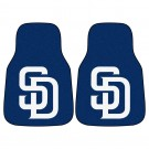 "San Diego Padres 27"" x 18"" Auto Floor Mat (Set of 2 Car Mats) by"