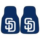 "San Diego Padres 17"" x 27"" Carpet Auto Floor Mat (Set of 2 Car Mats)"