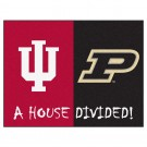 "Indiana Hoosiers and Purdue Boilermakers 34"" x 45"" House Divided Mat"