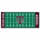 """Texas A & M Aggies 30"""" x 72"""" Football Field Runner"""