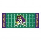 "East Carolina Pirates 30"" x 72"" Football Field Runner"