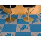 """Detroit Lions 18"""" x 18"""" Carpet Tiles (Box of 20)"""