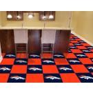 """Denver Broncos 18"""" x 18"""" Carpet Tiles (Box of 20)"""