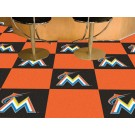 "Miami Marlins 18"" x 18"" Carpet Tiles (Box of 20)"