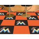 "Miami Marlins 18"" x 18"" Carpet Tiles (Box of 20)"