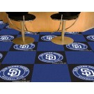 "San Diego Padres 18"" x 18"" Carpet Tiles (Box of 20)"