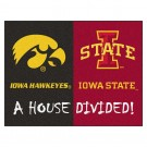 "Iowa Hawkeyes and Iowa State Cyclones 34"" x 45"" House Divided Mat"