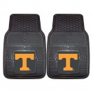 "Tennessee Volunteers 17"" x 27"" Heavy Duty 2-Piece Vinyl Car Mat Set"