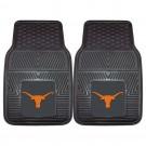 """Texas Longhorns 17"""" x 27"""" Heavy Duty 2-Piece Vinyl Car Mat Set"""