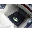 "Green Bay Packers 17"" x 27"" Heavy Duty 2-Piece Vinyl Car Mat Set"
