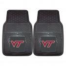 "Virginia Tech Hokies 17"" x 27"" Heavy Duty 2-Piece Vinyl Car Mat Set"