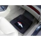 "Denver Broncos 17"" x 27"" Heavy Duty 2-Piece Vinyl Car Mat Set"