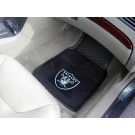 "Oakland Raiders 18"" x 27"" Heavy Duty 2-Piece Vinyl Car Mat Set"