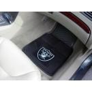 """Oakland Raiders 18"""" x 27"""" Heavy Duty 2-Piece Vinyl Car Mat Set"""