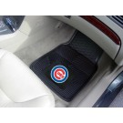 "Chicago Cubs 17"" x 27"" Heavy Duty 2-Piece Vinyl Car Mat Set"