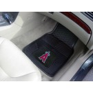 "Los Angeles Angels of Anaheim 17"" x 27"" Heavy Duty 2-Piece Vinyl Car Mat Set"