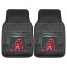 "Arizona Diamondbacks 18"" x 27"" Heavy Duty 2-Piece Vinyl Car Mat Set"