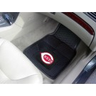 "Cincinnati Reds 17"" x 27"" Heavy Duty 2-Piece Vinyl Car Mat Set"