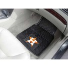 "Houston Astros 17"" x 27"" Heavy Duty 2-Piece Vinyl Car Mat Set"