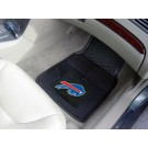 "Buffalo Bills 17"" x 27"" Heavy Duty 2-Piece Vinyl Car Mat Set"