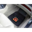 "Cincinnati Bengals 17"" x 27"" Heavy Duty 2-Piece Vinyl Car Mat Set"