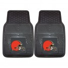 "Cleveland Browns 17"" x 27"" Heavy Duty 2-Piece Vinyl Car Mat Set"