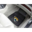 "Jacksonville Jaguars 17"" x 27"" Heavy Duty 2-Piece Vinyl Car Mat Set"