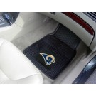 "St. Louis Rams 17"" x 27"" Heavy Duty 2-Piece Vinyl Car Mat Set"