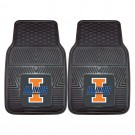 "Illinois Fighting Illini 17"" x 27"" Heavy Duty 2-Piece Vinyl Car Mat Set"