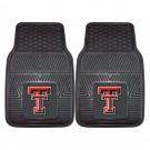 "Texas Tech Red Raiders 17"" x 27"" Heavy Duty 2-Piece Vinyl Car Mat Set"