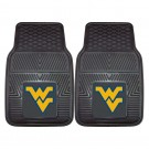 "West Virginia Mountaineers 17"" x 27"" Heavy Duty 2-Piece Vinyl Car Mat Set"