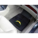 "San Diego Chargers 17"" x 27"" Heavy Duty 2-Piece Vinyl Car Mat Set"