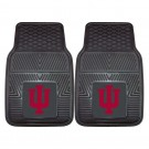 "Indiana Hoosiers 17"" x 27"" Heavy Duty 2-Piece Vinyl Car Mat Set"