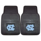 "North Carolina Tar Heels 17"" x 27"" Heavy Duty 2-Piece Vinyl Car Mat Set (with ""NC"")"