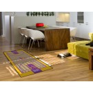 """Los Angeles Lakers 30"""" x 54"""" Basketball Court Runner"""