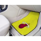 "Miami Heat 18"" x 27"" Auto Floor Mat (Set of 2 Car Mats - Yellow)"