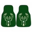 """Milwaukee Bucks 18"""" x 27"""" Auto Floor Mat (Set of 2 Car Mats)"""