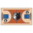 """Minnesota Timberwolves 30"""" x 54"""" Basketball Court Runner"""