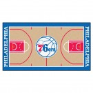 "Philadelphia 76ers 30"" x 54"" Basketball Court Runner"
