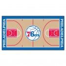 """Philadelphia 76ers 30"""" x 54"""" Basketball Court Runner"""
