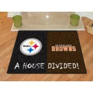 "Pittsburgh Steelers and Cleveland Browns 34"" x 45"" House Divided Mat"