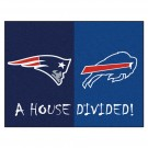 "New England Patriots - Buffalo Bills House Divided Rugs 34"" x 45"""