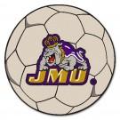 """27"""" Round James Madison Dukes Soccer Mat"""