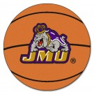 "27"" Round James Madison Dukes Basketball Mat"