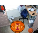 "27"" Round Iowa State Cyclones Basketball Mat"