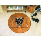 "27"" Round Mercer (Atlanta) Bears Basketball Mat"